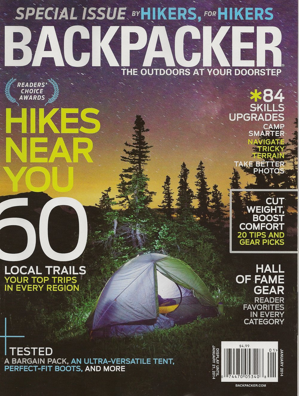 South Region - Reader's Choice BACKPACKER magazine - January 2014