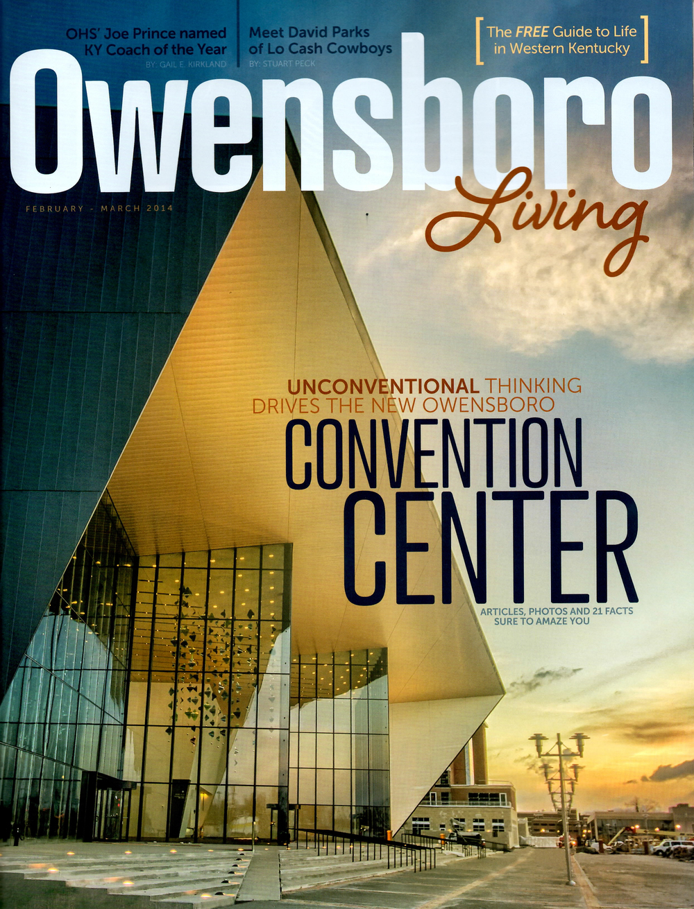 'David Parks is marching to his own beat' Owensboro Living magazine - February 2014