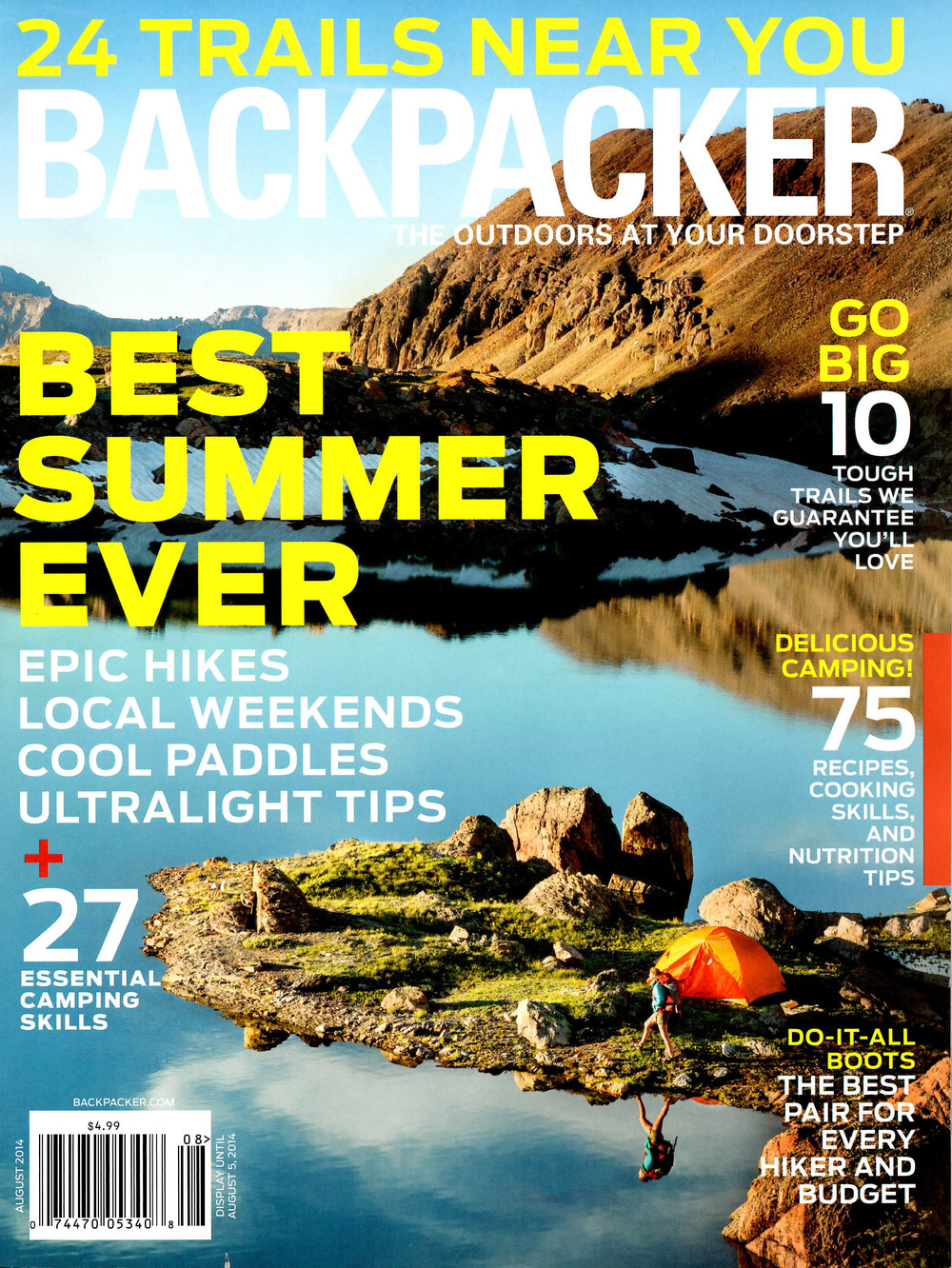 North Manitou Island BACKPACKER magazine - August 2014