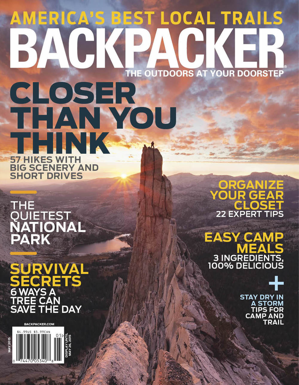 Hoist Lake Trail  Backpacker Magazine - October 2015