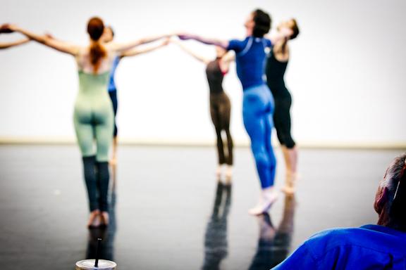 Paul Taylor creating his 138th dance, Perpetual Dawn.