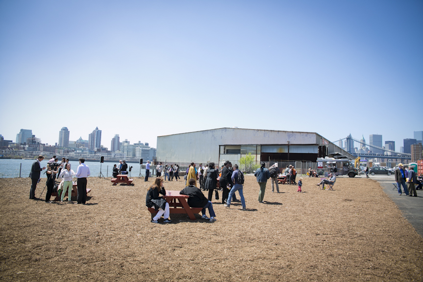 The shed will be removed to reveal a full view of Brooklyn