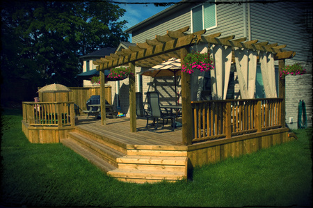 Gallery One  Click through to see our full wood deck picture gallery.