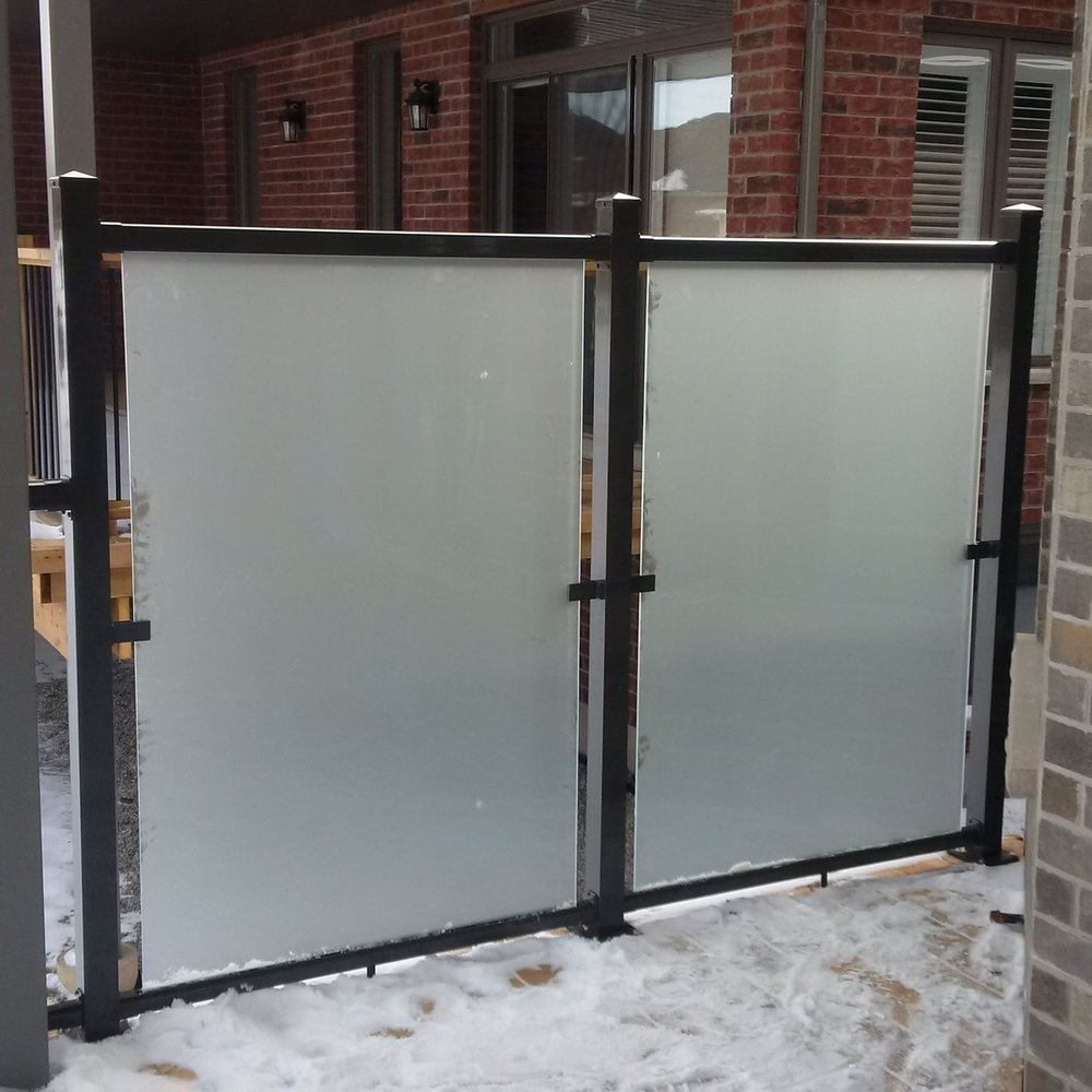 Etched Glass w/ Aluminum Frame