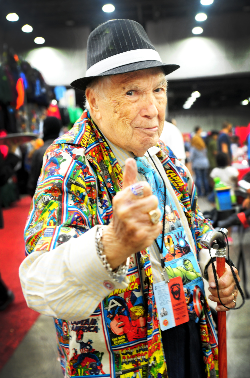 Marvel Comics artist Allen Bellman is pictured at the Cincinnati Comic Expo at the Duke Energy Center in downtown Cincinnati, Sept. 19, 2015. Bellman worked on the Captain America series, among many others, during the Golden Age of Comics.