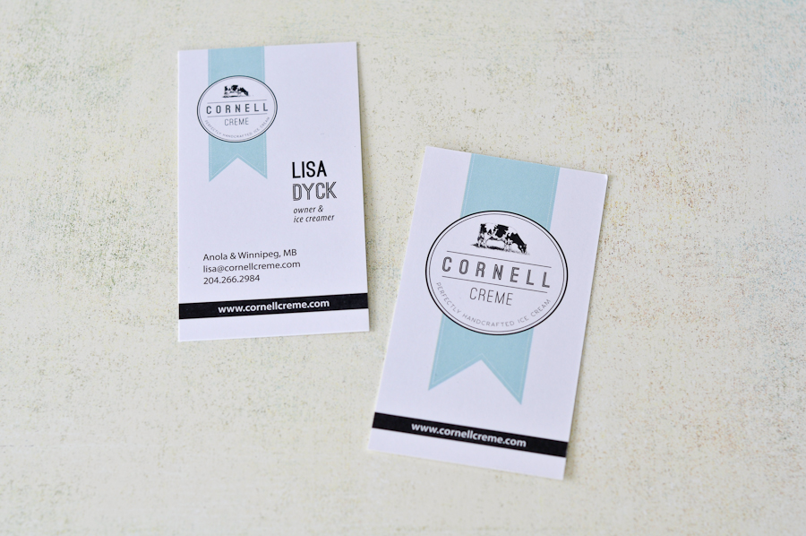 Cornell Creme business cards