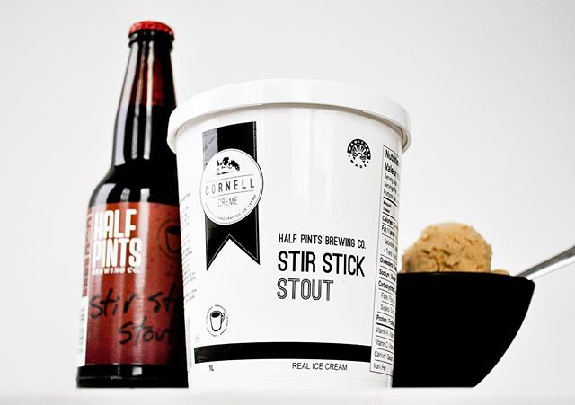 Stir Stick Stout is in stores now! But only for a limited time.  We love collaborating with other local companies like @halfpintsbrewing ! All the the #madeinmanitoba feels!!
