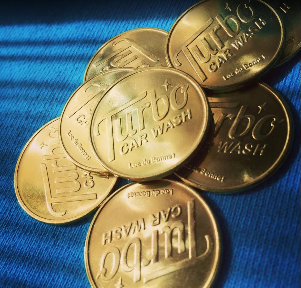 Turbo Car Wash coins