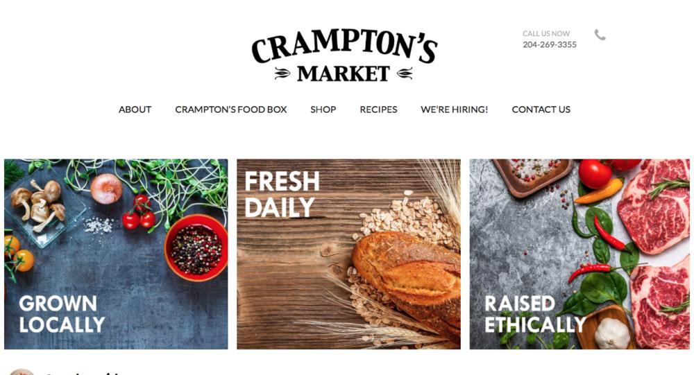 Crampton's Market branding