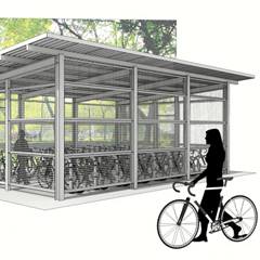 UW bicycle shelters