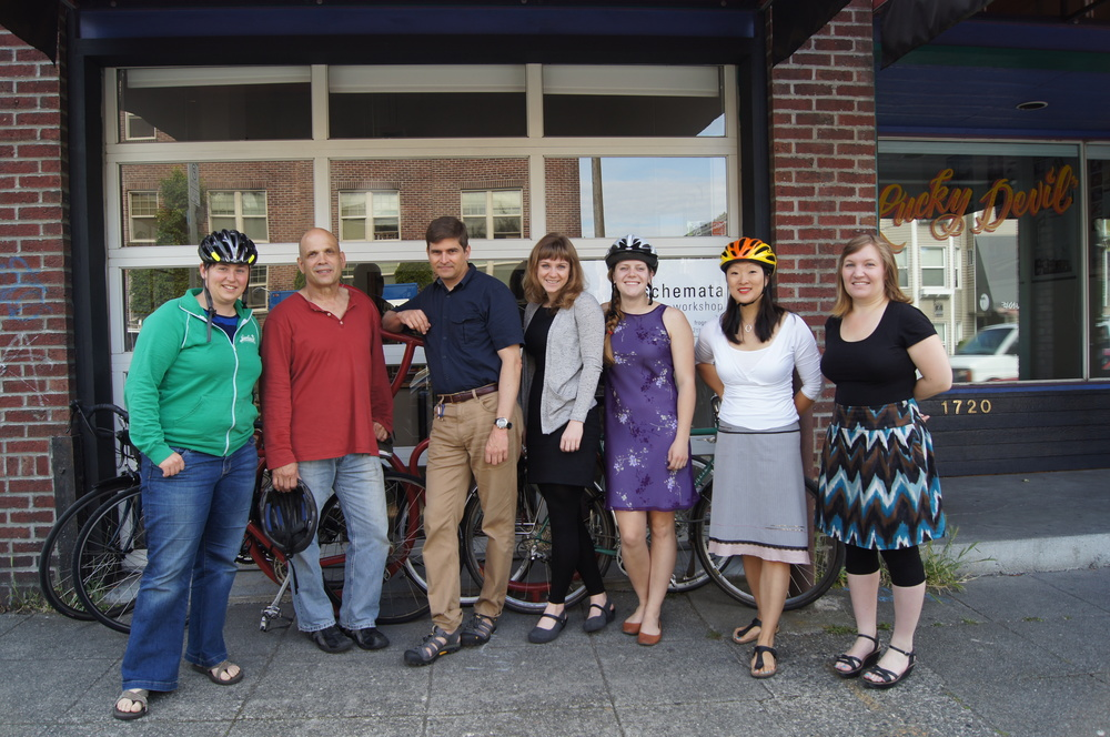 Our bicycling coworkers at National Bike to Work Day 2012