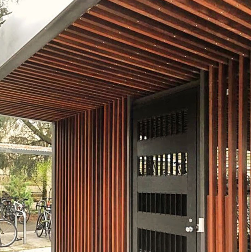 university of washington burke-gilman trail bike shelter  -