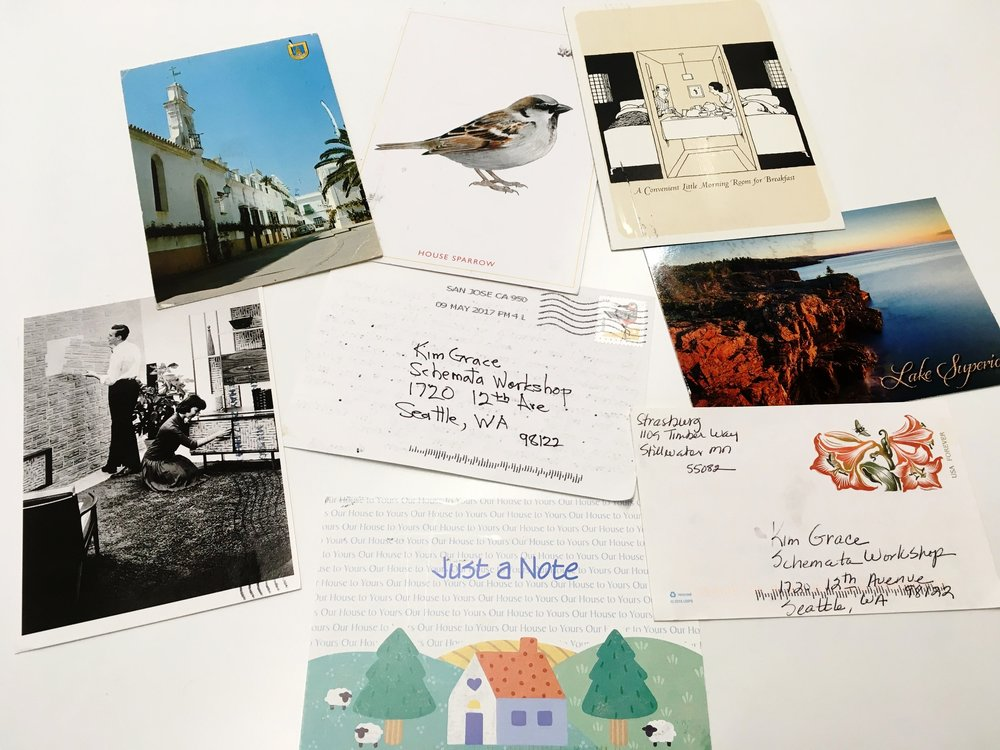 Mysterious handwritten postcards....