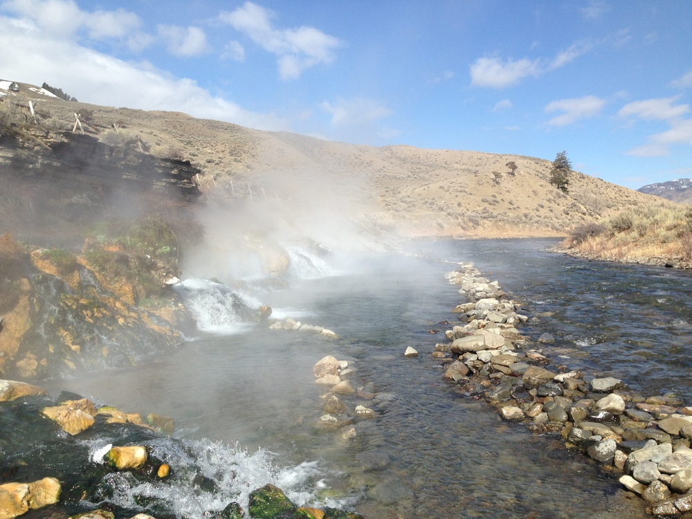 The Boiling River, Yellowstone National Park.
