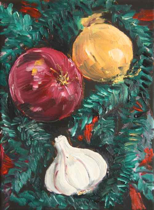 http://www.floggingthemuse.com/2011/11/painting-onions-and-garlic.html#comment-16292