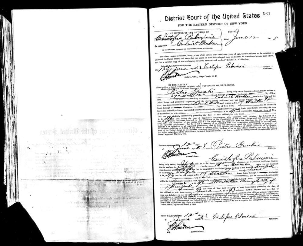 Petition of Christofaro Palmieri  1905  pg1 s.jpg