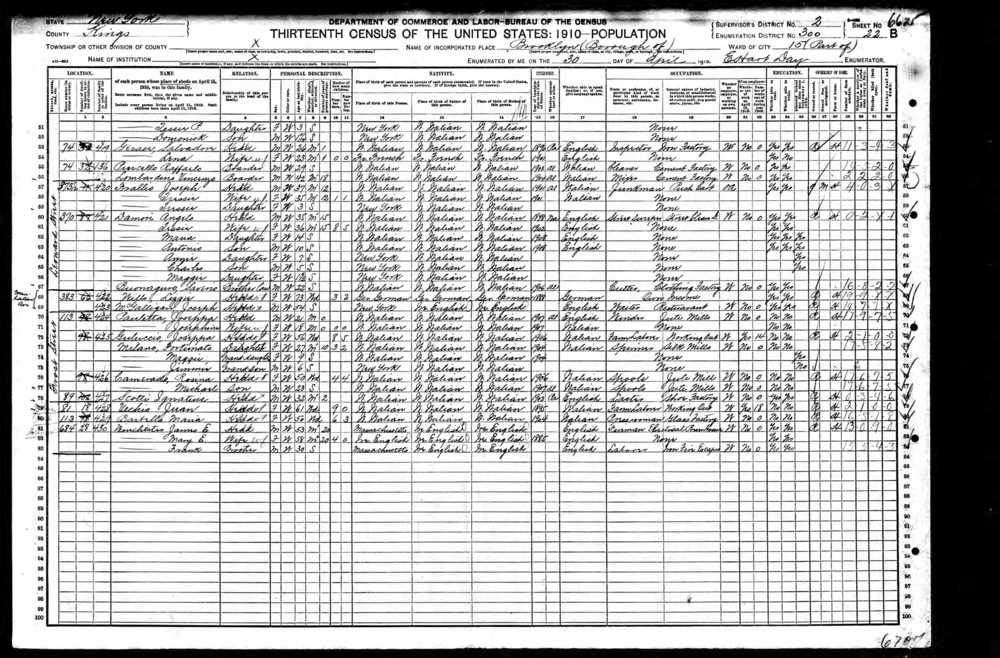 1910 Census    Fotunata Milano Brooklyn.jpg