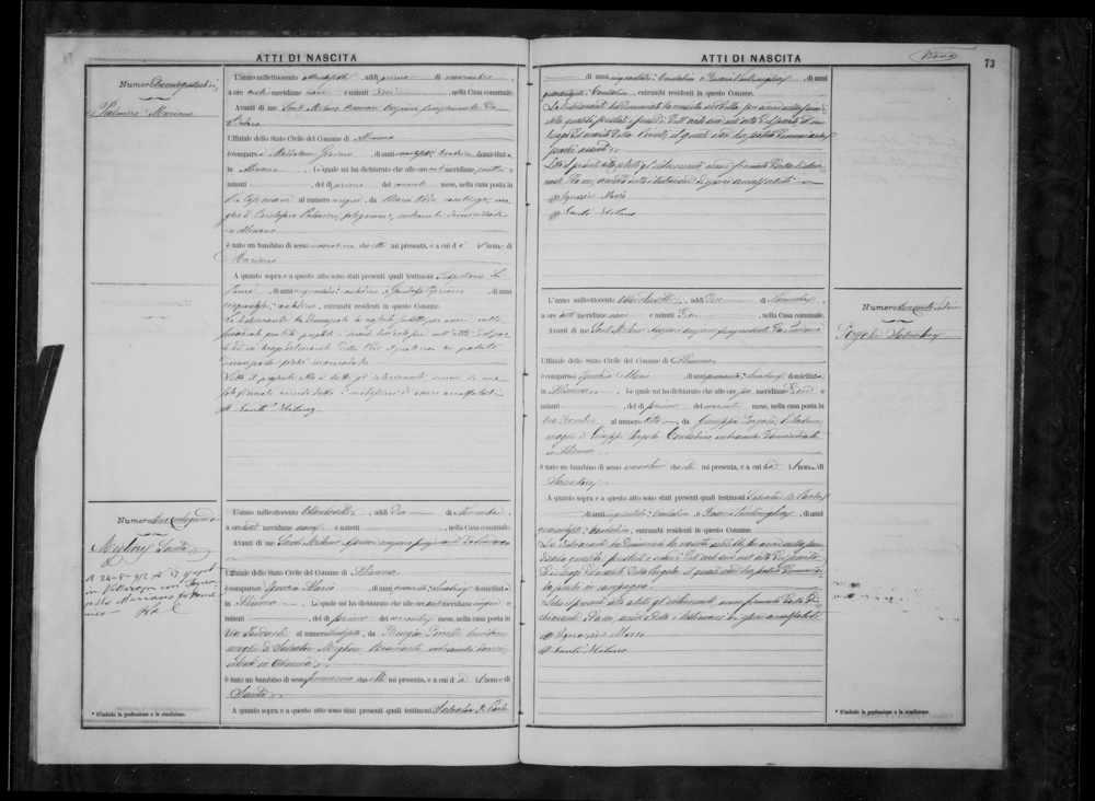 Palmieri Maiano Palmieri Birth record 1887.jpg