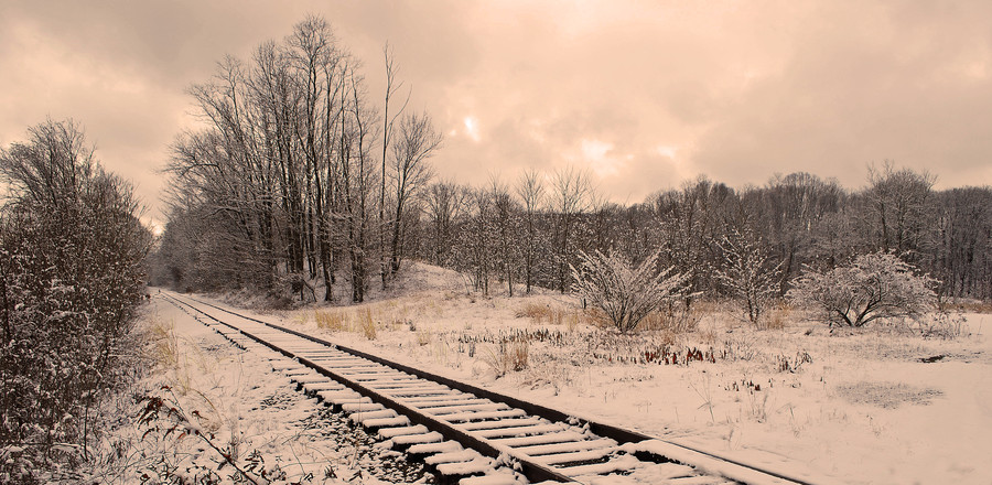 East Haddam RR  Snow on the track