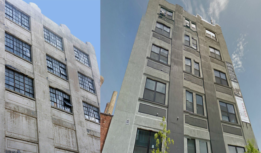Then and Now across the street frm 347 Manhattan ave , Brooklyn