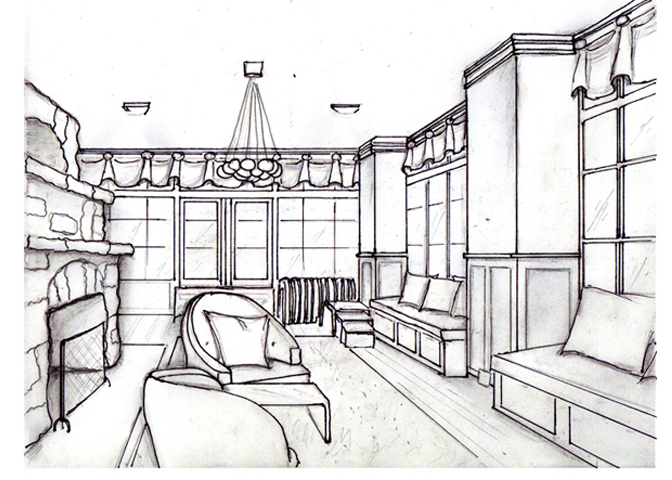 3D Sketch of Sunroom