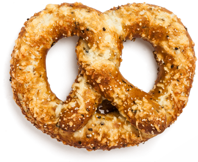 Asiago, Herb & Cracked Pepper Pretzel