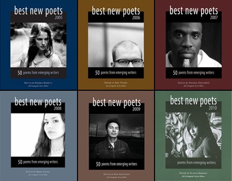 The first six Best New Poets covers.