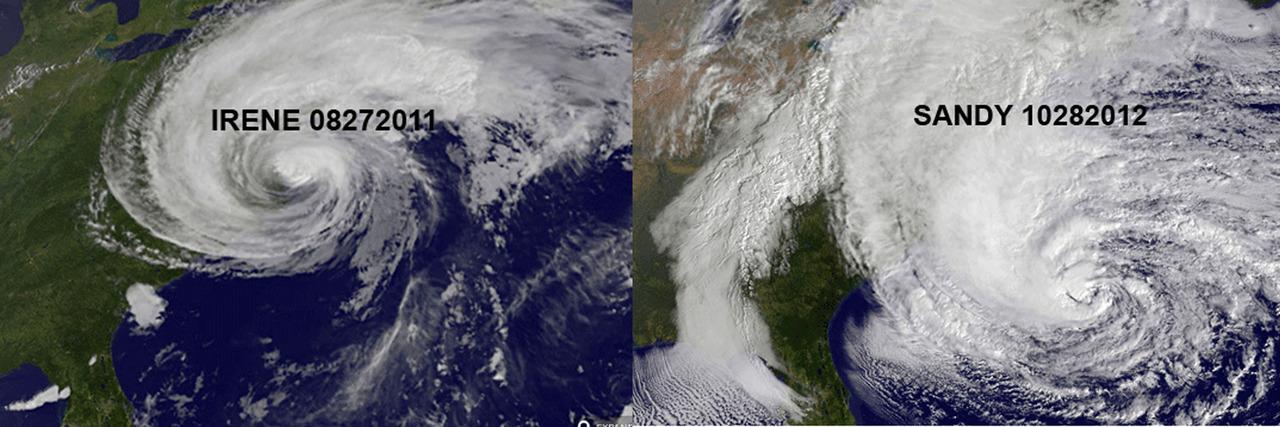 Some perspective. Irene vs. Sandy Credit to Gizmodo.