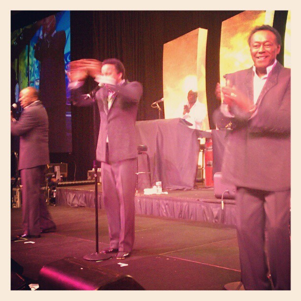 Tonight, work was overseeing a concert of The Spinners. So so grateful. What a great band of guys. (Taken with Instagram)