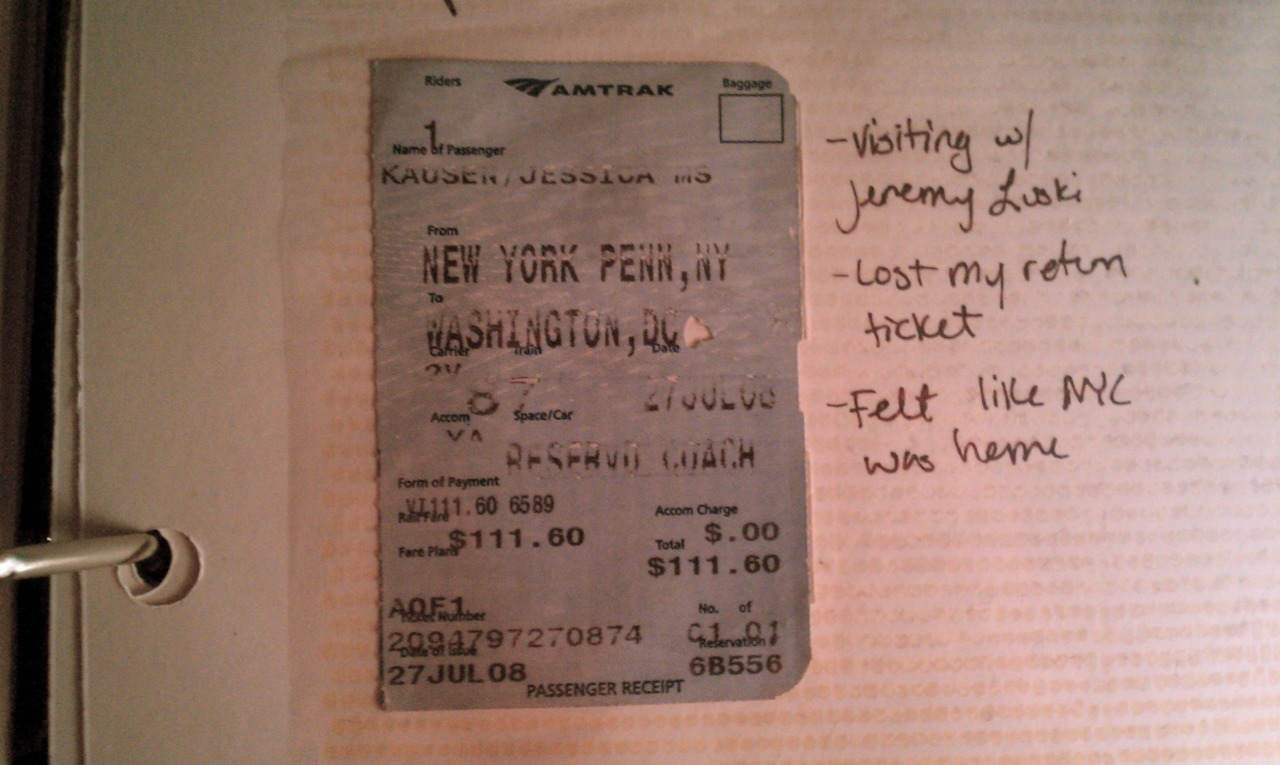 In late July of 2008, a quick weekend trip from DC to NYC sealed the deal.