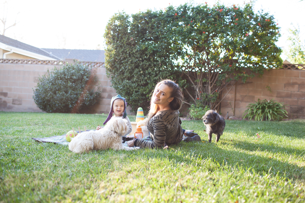 My beautiful family enjoying the afternoon in the backyard