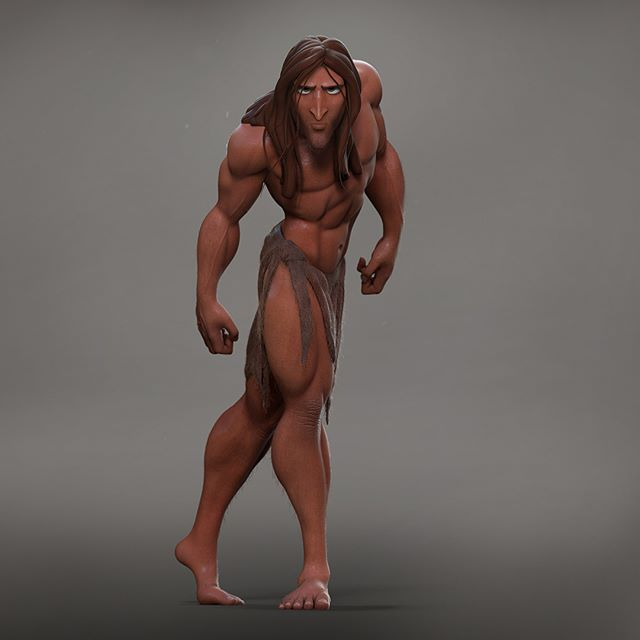 Haven't shared any art in a while so thought I would share a fun sculpt I recently did.  This is my humble take on the legendary Glen Keane's Tarzan.  Did this as a demo for my students at the ArtCenter.  Amazing concept to work with.  And such a great feeling to see it trending on ArtStation :). #zbrush #tarzan #artstation