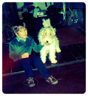 Josh as a child with his best friend Izzy.