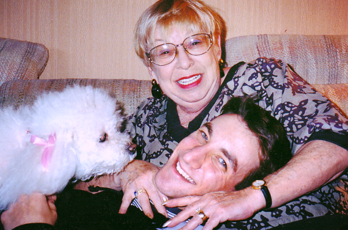 Grandma Phyllis with Dolly and me, 1997.