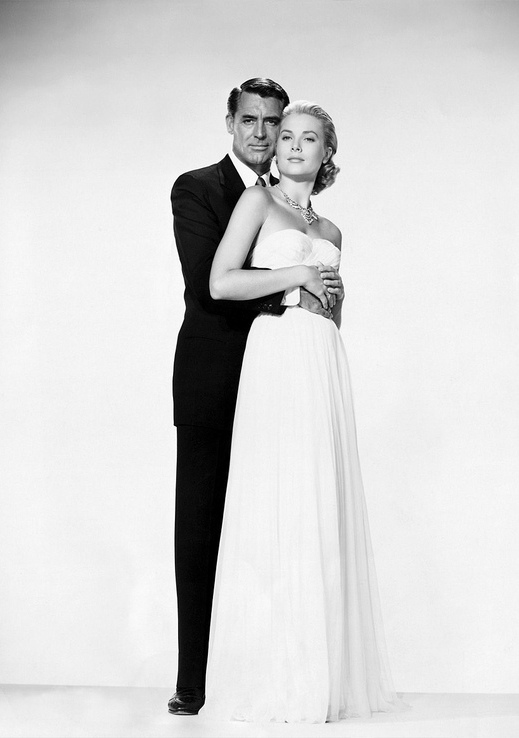 theniftyfifties: Cary Grant and Grace Kelly