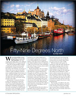 December 2008: Fifty-Nine Degrees North