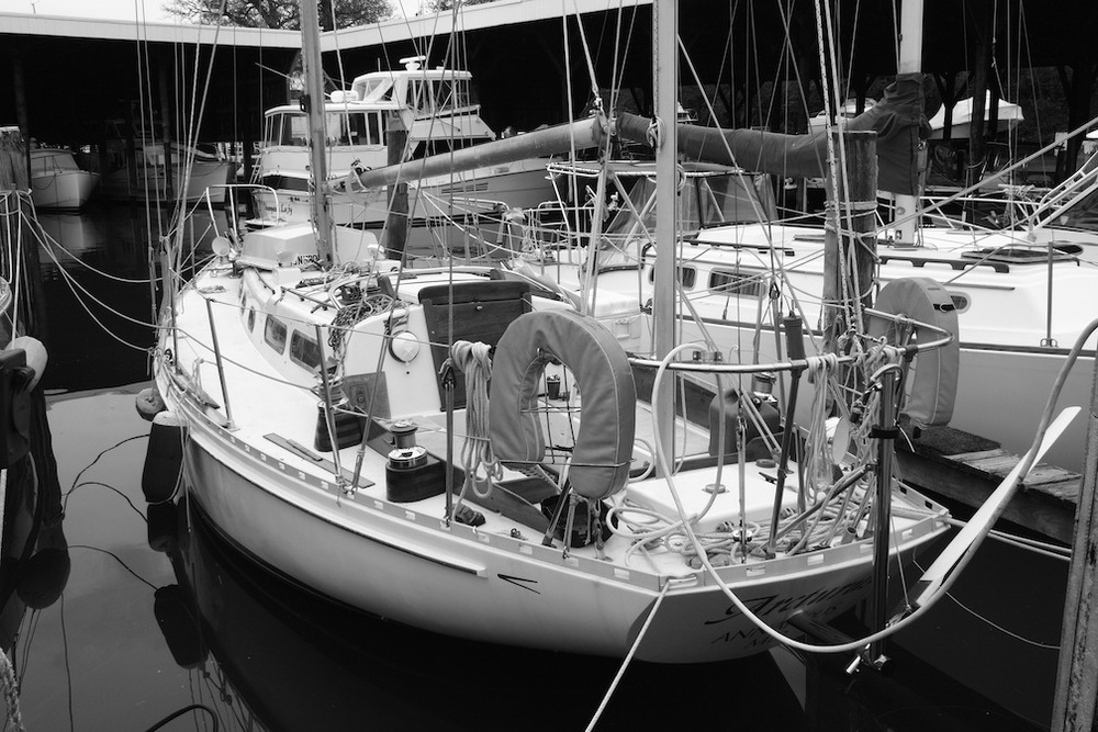Arcturus at Sarles Boatyard