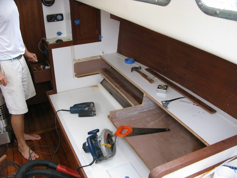Starboard Pilot Berth Re-construction...