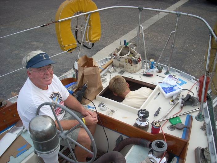Cape Horn Windvane Installation