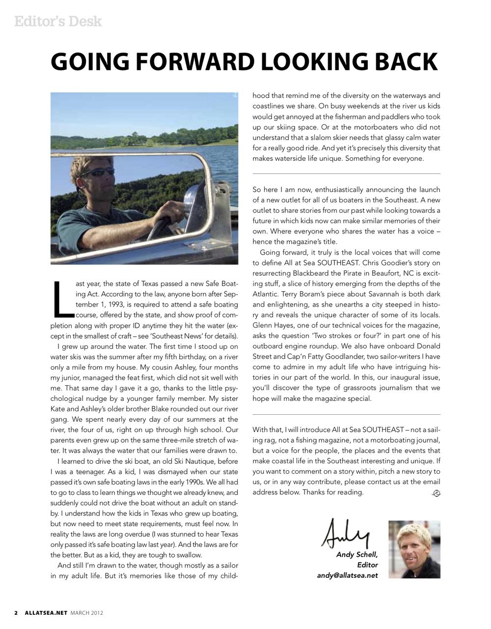 March 2012, Editorial