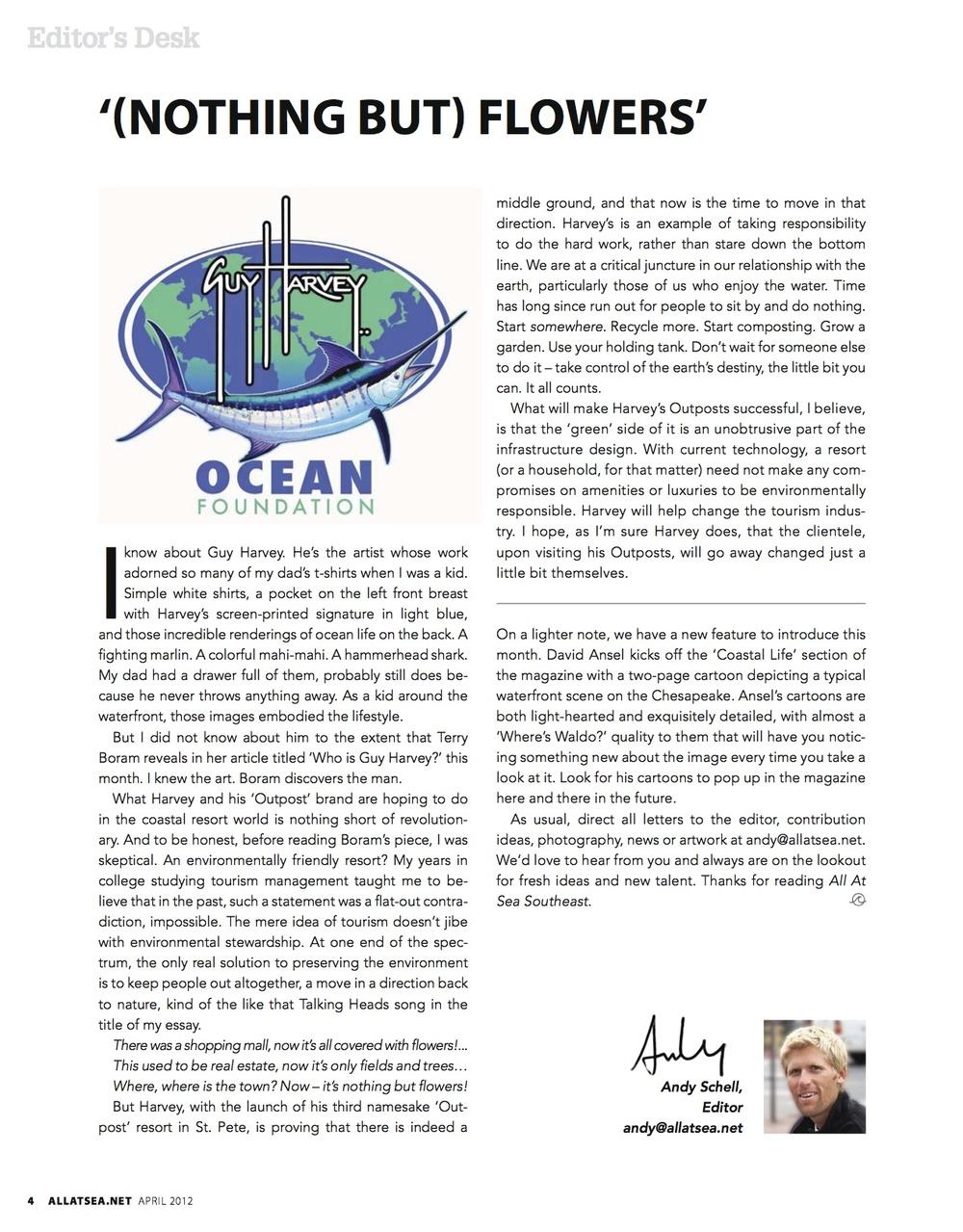 April 2012, Editorial