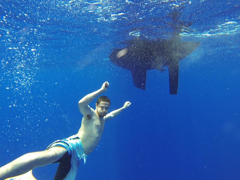Underwater Casey!
