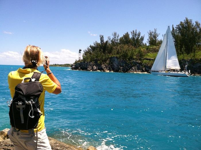 En bra dag på jobbet! Båtarna seglar nu ut från bermuda och mot Azorerna!