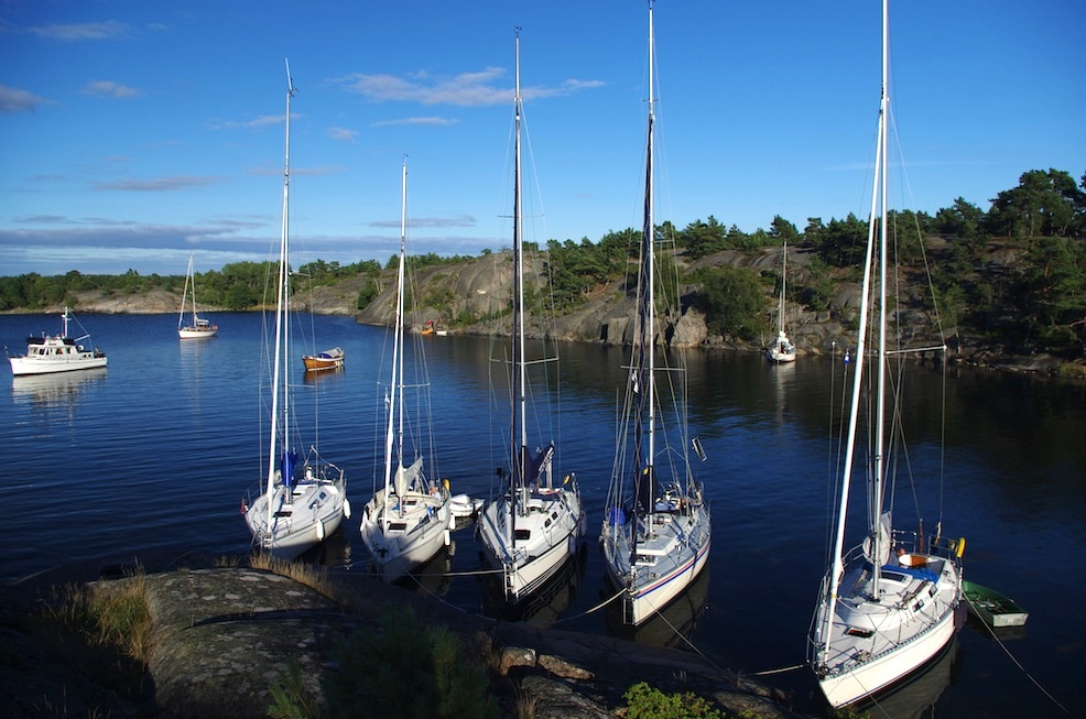Biskopsön mooring in the outer archipelago.