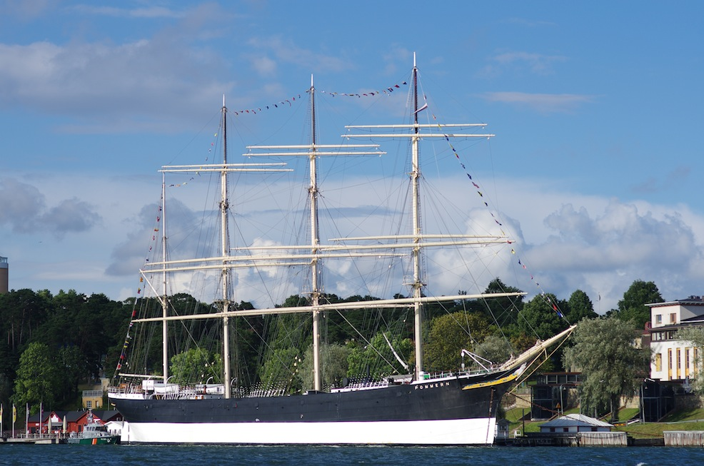 The 'Pommern', Mariehamn's Cape Horner. She used to carry grain from Australia and was owned by a local here. We'll check her out this week.