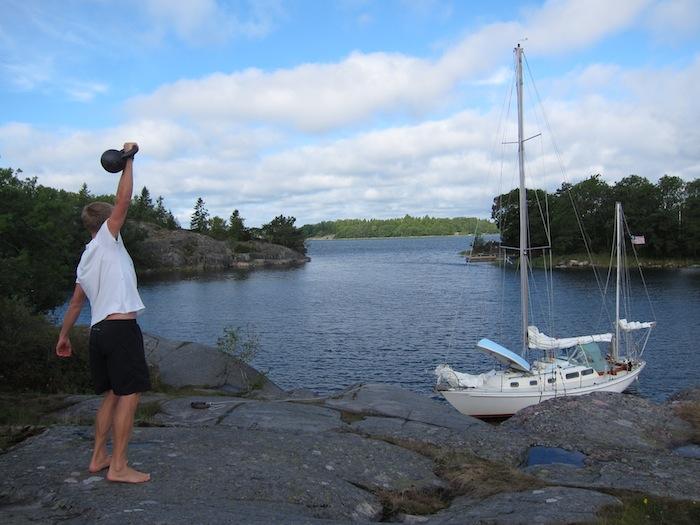 Morgonträning i Granhamn