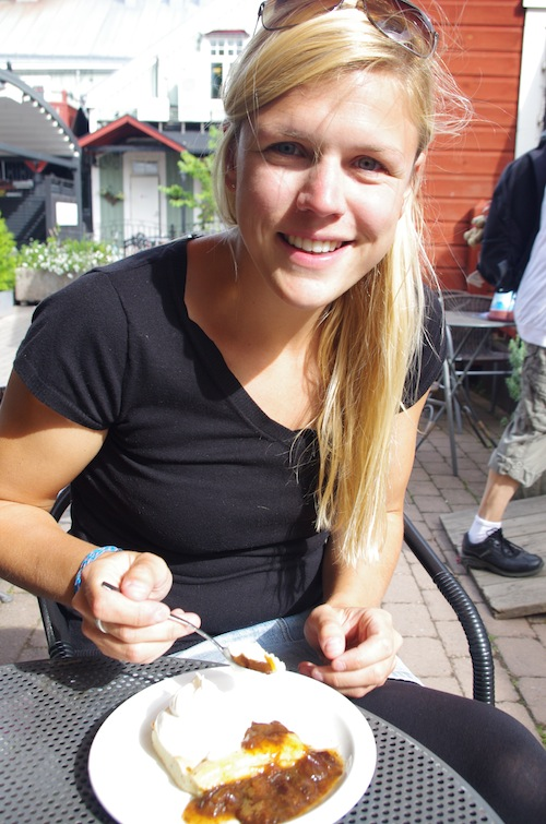 Ålandspannkaka på Bagarstugan i Mariehamn