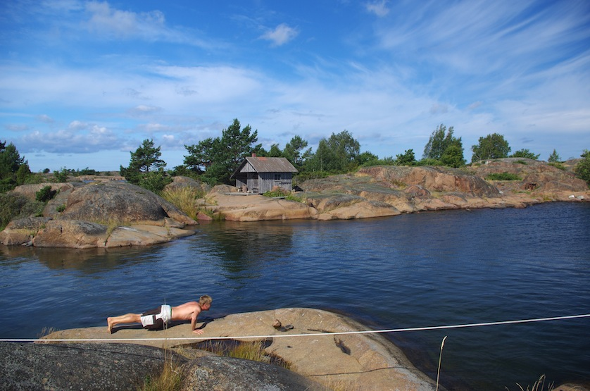 Morning training in the outer archipelago