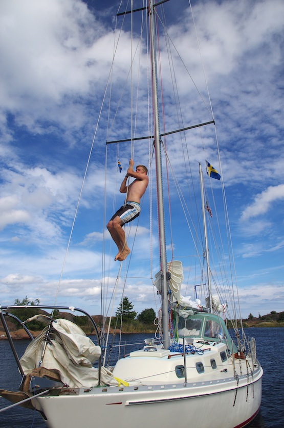 Rope climb!