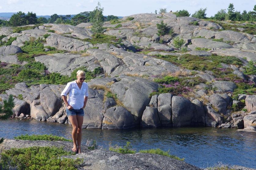 Fin morgonpromenad på klipporna i Länsmansgrund